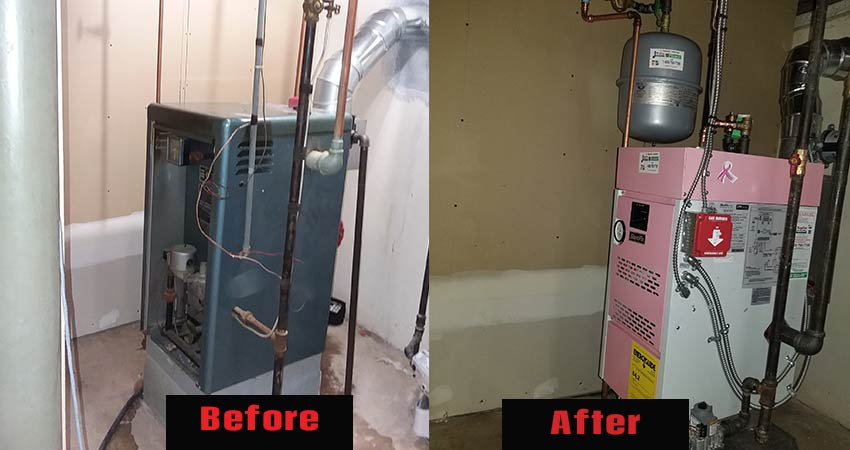 Before Amp After Rupcoe Plumbing Heating Amp Air Conditioning